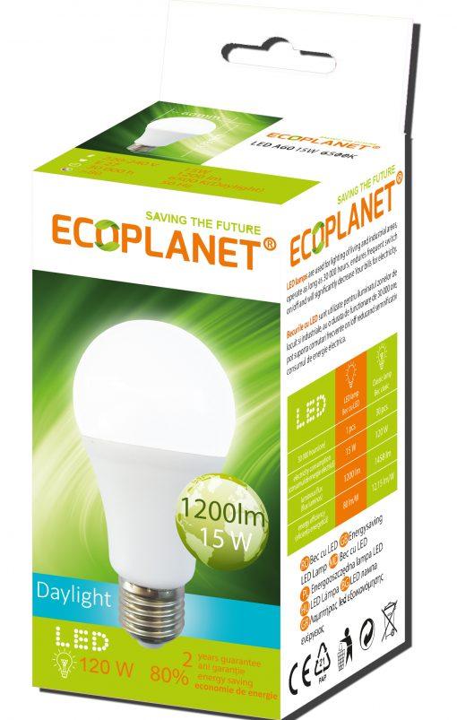 Bec LED E27 12W lumina rece 6500K Ecoplanet