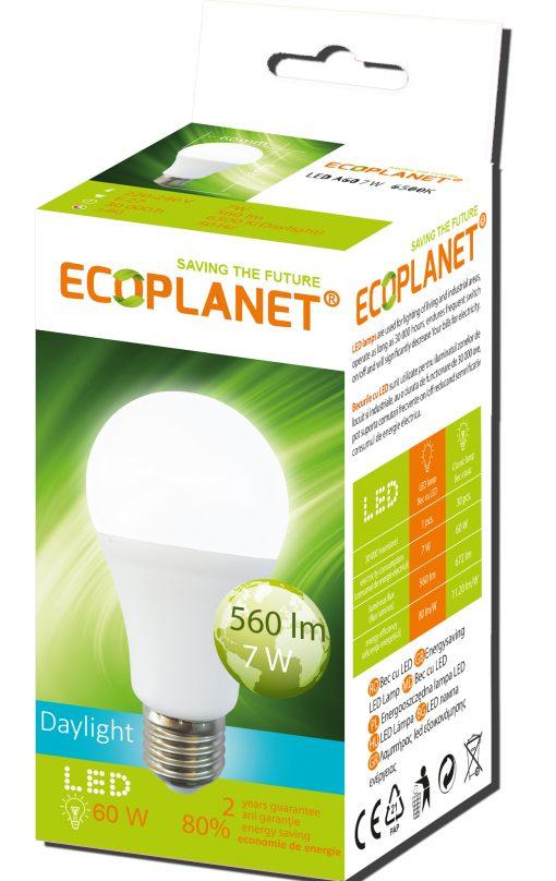 bec led 7w lumina rece 60w ecoplanet