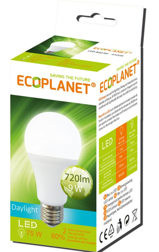 bec led 9w lumina rece 60w ecoplanet