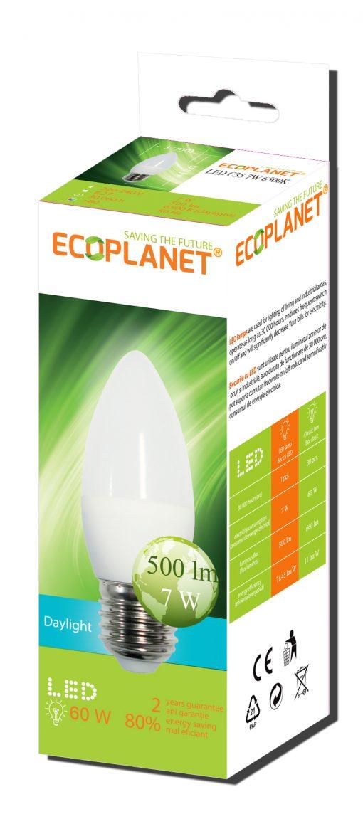 Ecoplanet bec lumanare e27 7w