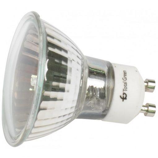 TG-2205.0175-Bec halogen GU10, putere: 220V/75W cu geam