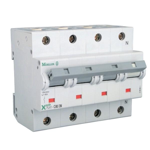 MOELLER Intrerupator automat 4Poli 80A 10KA C80/3N, cod: PLHT-C80/3N