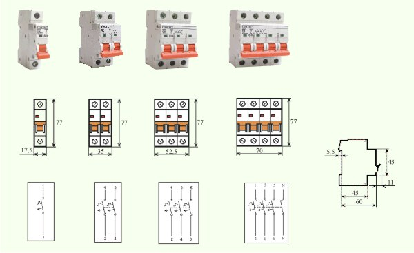Intrerupator Automat MCB-COMTEC HBC-10kA 20/3N/C