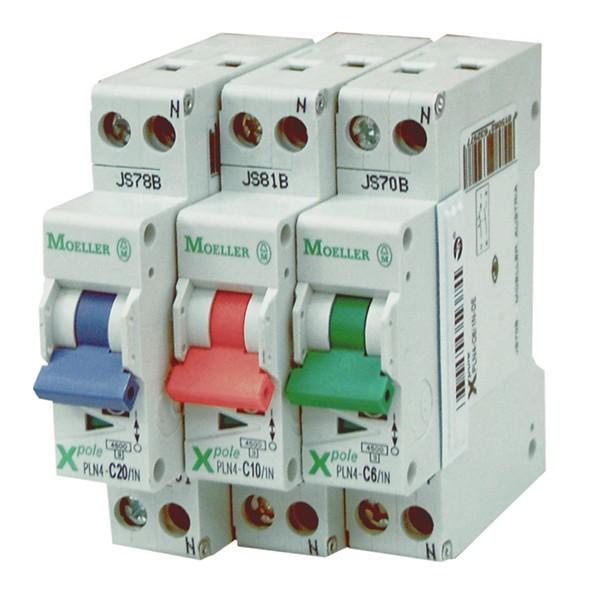 MOELLER-Intr. automat 10A, 1P+N, C, 4.5KA, 1MOD, cod: PLN4-C10/1N