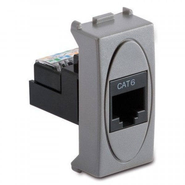 MS.MODO GRI(33220)-Priza date UTP Cat.6 RJ45 8/8 contacte, neecranata