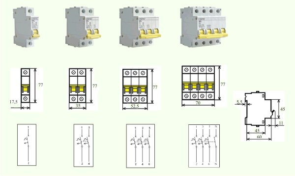 Intrerupator Automat MCB-COMTEC BRL-6kA 6/3N/C