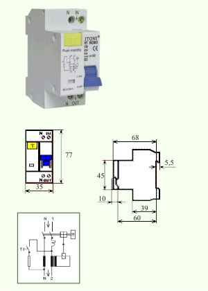 Intrerupator Combinat RCBO-COMTEC 4.5 kA 32/1N/0,3/C