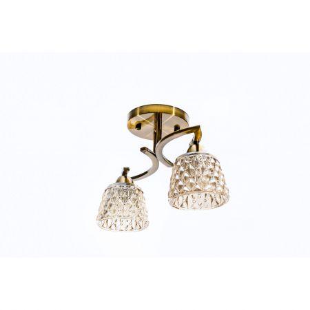 Lustra Bronze cu 2 brate;lustre ieftine;promotie candelabru