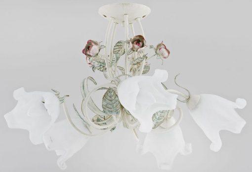 alfa-lusta 5 brate metal alb flori ,trandafiri 11225