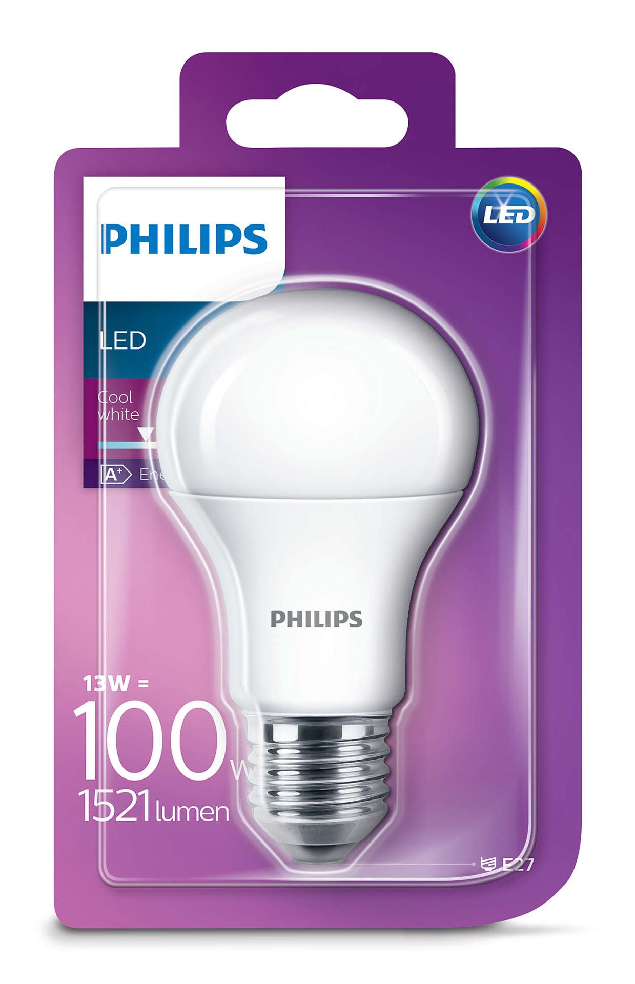 bec led philips corepro led a60 13w 100w e27 mat lumina rece pro electrice. Black Bedroom Furniture Sets. Home Design Ideas