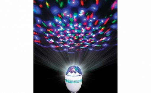 Bec led rotativ cu laser disco festiv, decorativ