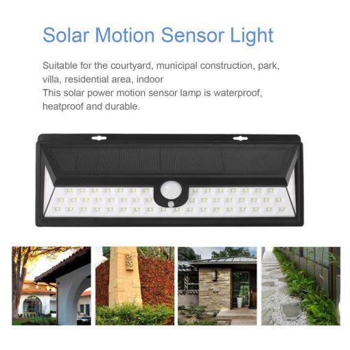 Proiector solar 54led senzori zi-noapte,miscare,waterpfoof,dustproof ICOCO