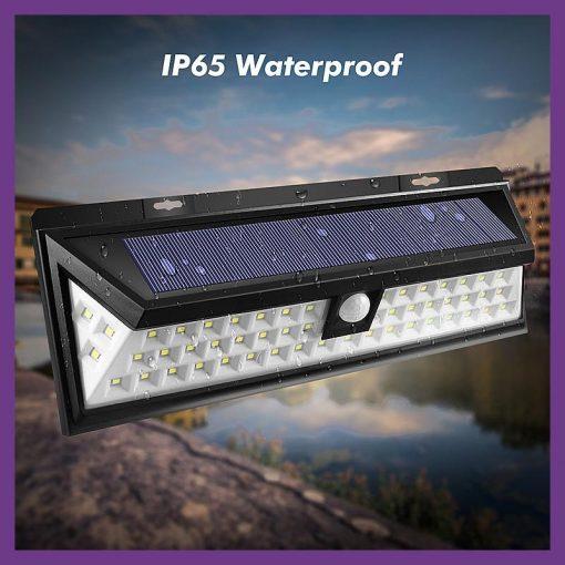 Proiector solar 54 LED-uri Senzor solare,rezistent apa