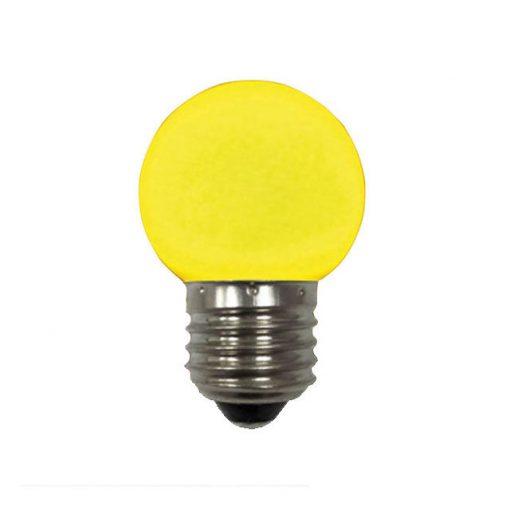 BEC LED COLOR RAINBOW 1W 230V E27 GALBEN HOROZ