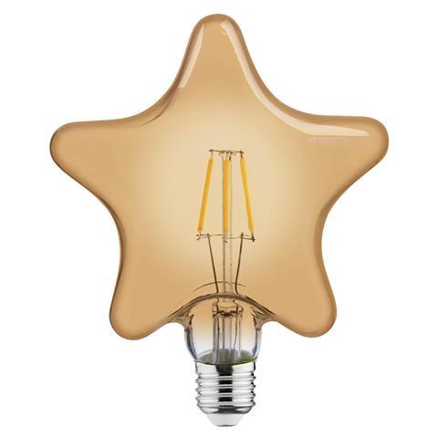 Lampa cu incandescență 6W E27 FILAMENT RUSTIC STAR-6