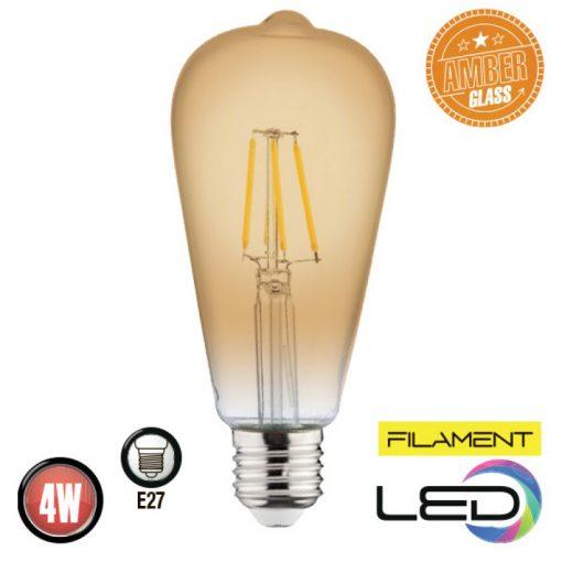 Lampa cu incandescență 6W E27 FILAMENT RUSTIC VINTAGE-6