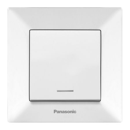 Intrerupator simplu cu LED Panasonic Arkedia, Alb