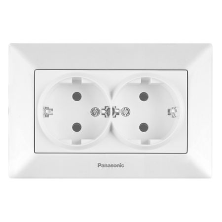 Priza dubla Panasonic Arkedia, Alb