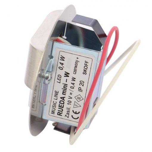 Spot LED alb incastrat Rueda Mini Skoff, 0.40W, inox 3