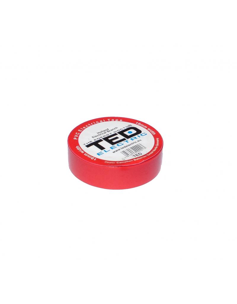 Banda electroizolatoare rosie 19mm x 20metri TED Electric