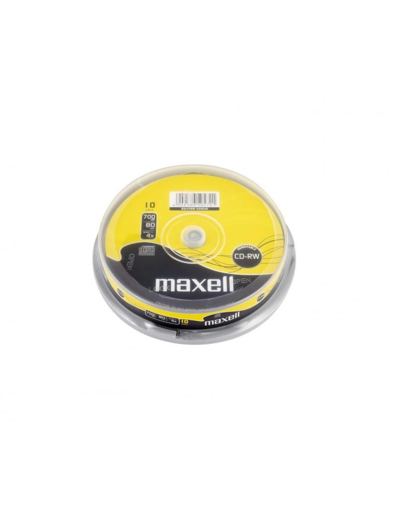 CD-RW Maxell reinscriptibil 700 Mb 52X 80 min. 10 discuri 624039