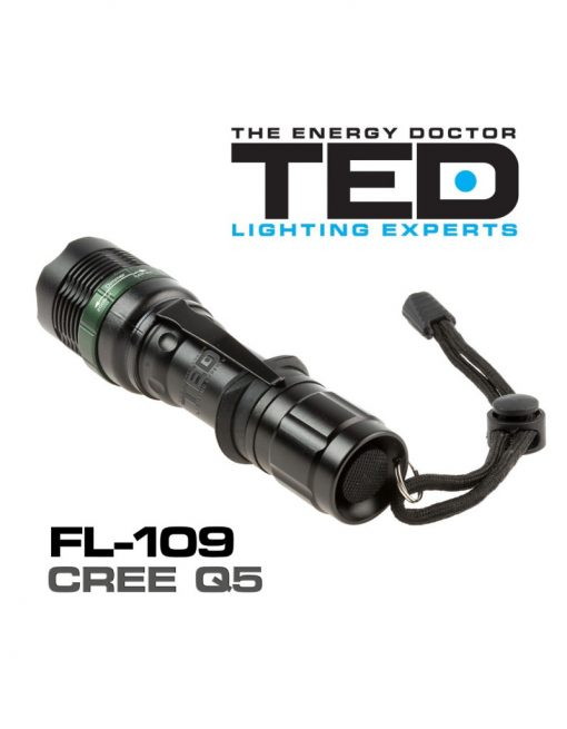 Lanterna metalica TED Electric LED CREE zoom include 1 acumulator 18650 Li-Ion FL-109TED