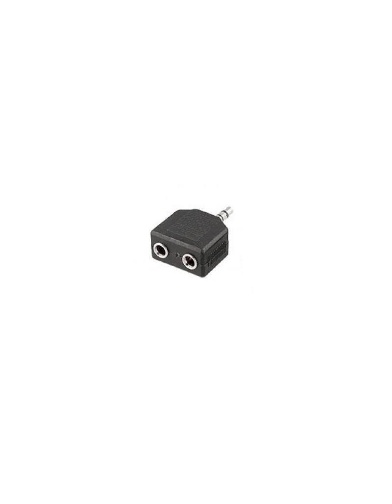 Mufa adaptor de la 2 x jack 6,3mm mama stereo la jack 3,5mm tata stereo